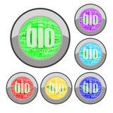 Bio button set Stock Photo