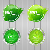 Bio buttons collection Royalty Free Stock Photography