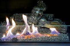 Bio- camino moderno del fireplot sul gas dell'etanolo Alternativa ecologica astuta fotografia stock