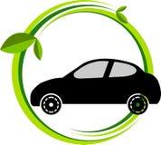 Bio car logo. Illustration art of a bio car logo with isolated background Stock Images