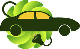 Bio car logo. Illustration art of a bio car logo with isolated background Royalty Free Stock Photo
