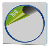 Bio card with circle frame Royalty Free Stock Images