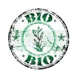 Bio carimbo de borracha ilustração stock
