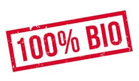 bio carimbo de borracha de 100 por cento Ilustração Stock