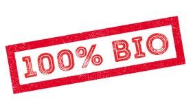 bio carimbo de borracha de 100 por cento Ilustração do Vetor