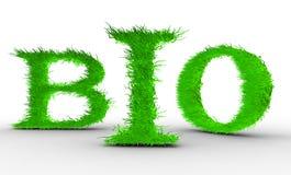 Bio. Cartas con la hierba en ella. Imagen de archivo libre de regalías