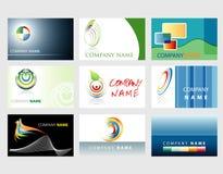 Bio cartes de logos Photographie stock libre de droits