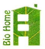 Bio- casa. immagini stock