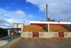 Bio central energética do combustível Fotografia de Stock Royalty Free