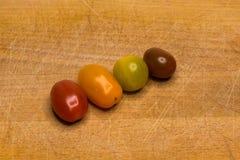 Bio- Cherry Tomato colorato fotografia stock