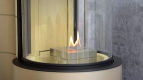 Bio chimenea moderna del fireplot en el gas del etanol Smart ecológico almacen de metraje de vídeo