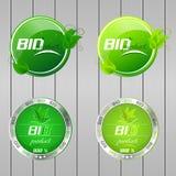 Bio collection de boutons Photographie stock libre de droits