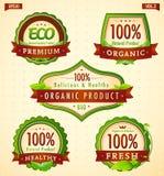 Bio collection vol. 2 d'étiquette d'eco vert Photos libres de droits
