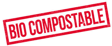Bio Compostable rubber stamp Royalty Free Stock Photos