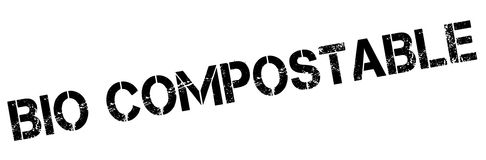 Bio Compostable rubber stamp Royalty Free Stock Images
