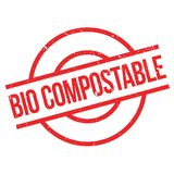 Bio Compostable rubber stamp Royalty Free Stock Image
