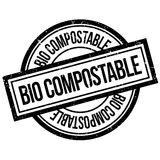 Bio Composteerbare rubberzegel Royalty-vrije Stock Foto's