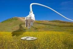 Bio concept d'énergie renouvelable d'essence Images libres de droits