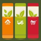 Bio concept design eco  banners Royalty Free Stock Photos