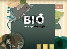 Bio concept design eco friendly Royalty Free Stock Photography