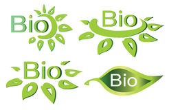 Bio concept  set of logotypes Royalty Free Stock Photo