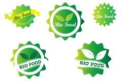 Bio conception de logo d'insigne illustration de vecteur