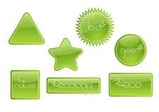 Bio conjunto de escritura de la etiqueta. Vector Imágenes de archivo libres de regalías