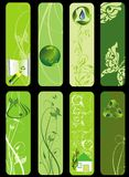 Bio conjunto del verde de Eco Foto de archivo