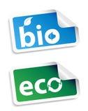 Bio conjunto natural de la etiqueta engomada Foto de archivo