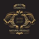 Bio cosmétiques étiquette Images stock