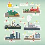 Bio de energía combustible ilustración del vector