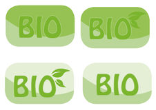 bio design vektor illustrationer