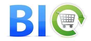 Bio design för shoppingbegreppsillustration Royaltyfria Foton