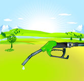 Bio-diesel. Gas pump green stock illustration