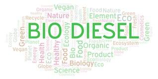Bio Diesel woordwolk royalty-vrije illustratie