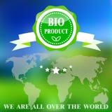 Bio- distintivo del prodotto Immagini Stock