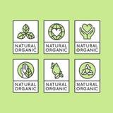 Bio- distintivo dell'etichetta dell'ingrediente Immagini Stock Libere da Diritti