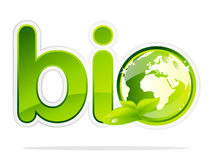 Bio earth sign Royalty Free Stock Photography