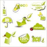 Bio Eco royaltyfri illustrationer
