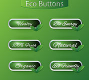 Bio eco buttons Royalty Free Stock Photo