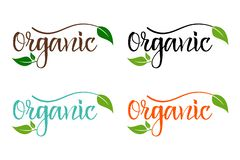 Bio eco colorful set for company, producing organic products royalty free illustration