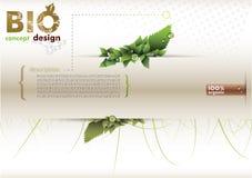 Bio eco de conception de l'avant-projet amical Photos stock