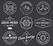 Bio and Eco Energy 1 black. Vector badges and labels for any use stock illustration