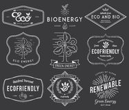 Bio and Eco Energy 2 black Royalty Free Stock Photos