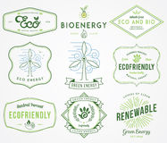 Bio and Eco Energy 2 colored Royalty Free Stock Photography