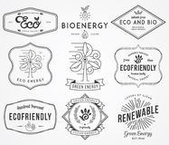 Bio and Eco Energy 2. Vector badges and labels for any use stock illustration