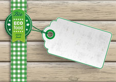 Bio Eco Food Price Sticker Royalty Free Stock Photos