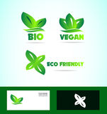 Bio eco friendly vegan logo Stock Image