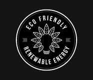 Bio and Eco friendly white on black. Is a vector illustration for any use vector illustration