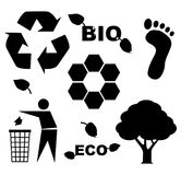 Bio eco icons Stock Photos